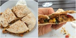 clean eating southwest quesadilla