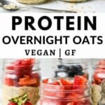 pin for this recipe - protein overnight oats