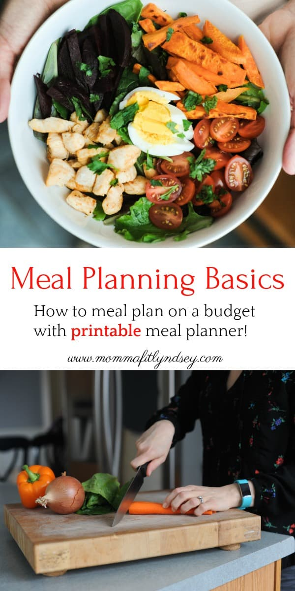 Meal Planning Basics for families, healthy meal planning on a budget with printables by healthy lifestyle Pittsburgh blogger Lyndsey of www.mommafitlyndsey.com #printable #mealplanning #budget #loseweight