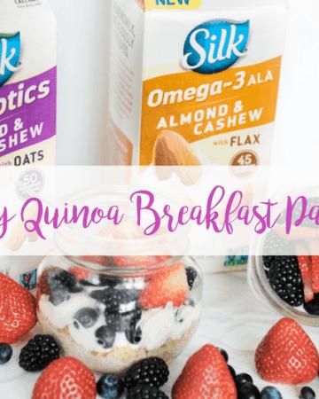 Berry Quinoa Parfait with Silk Almondmilk