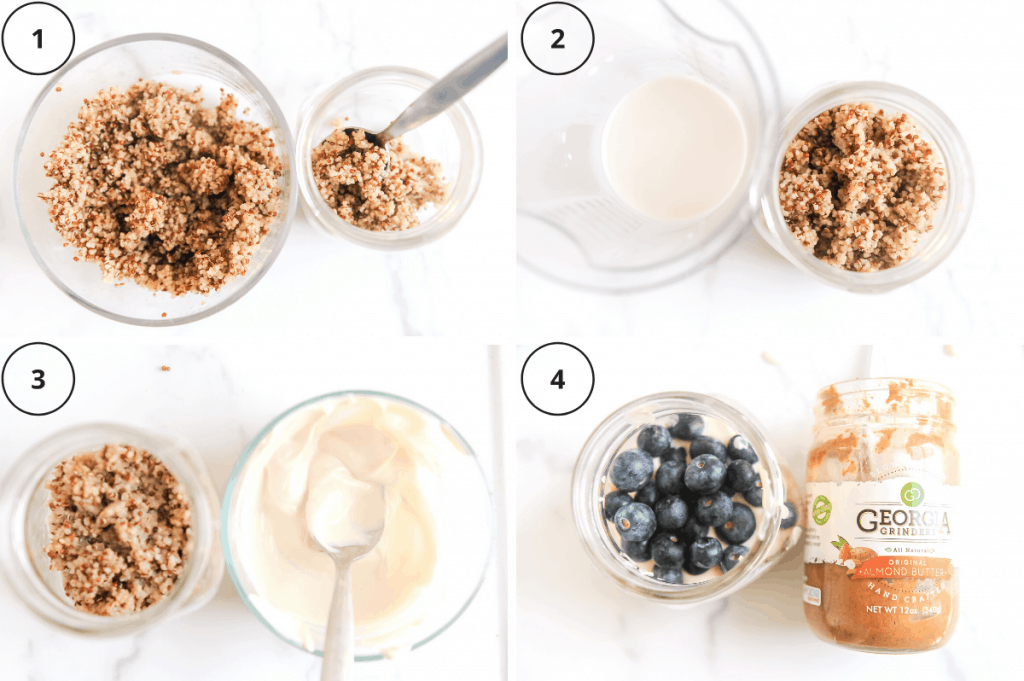 steps for making plant based breakfast