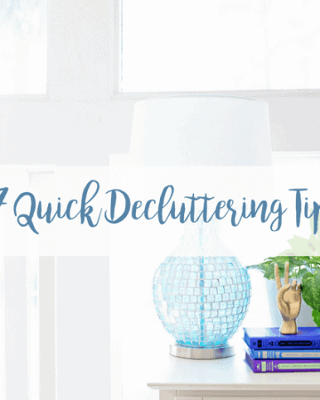 Decluttered Home and Kitchen