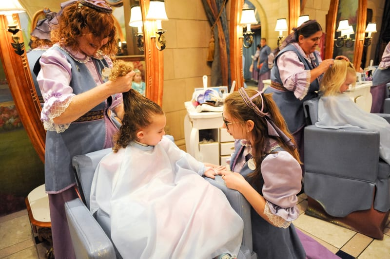 Hairstyle at Bibbidi Bobbidi Boutique