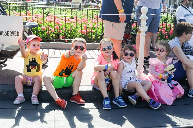 Kids at Parade at Disney