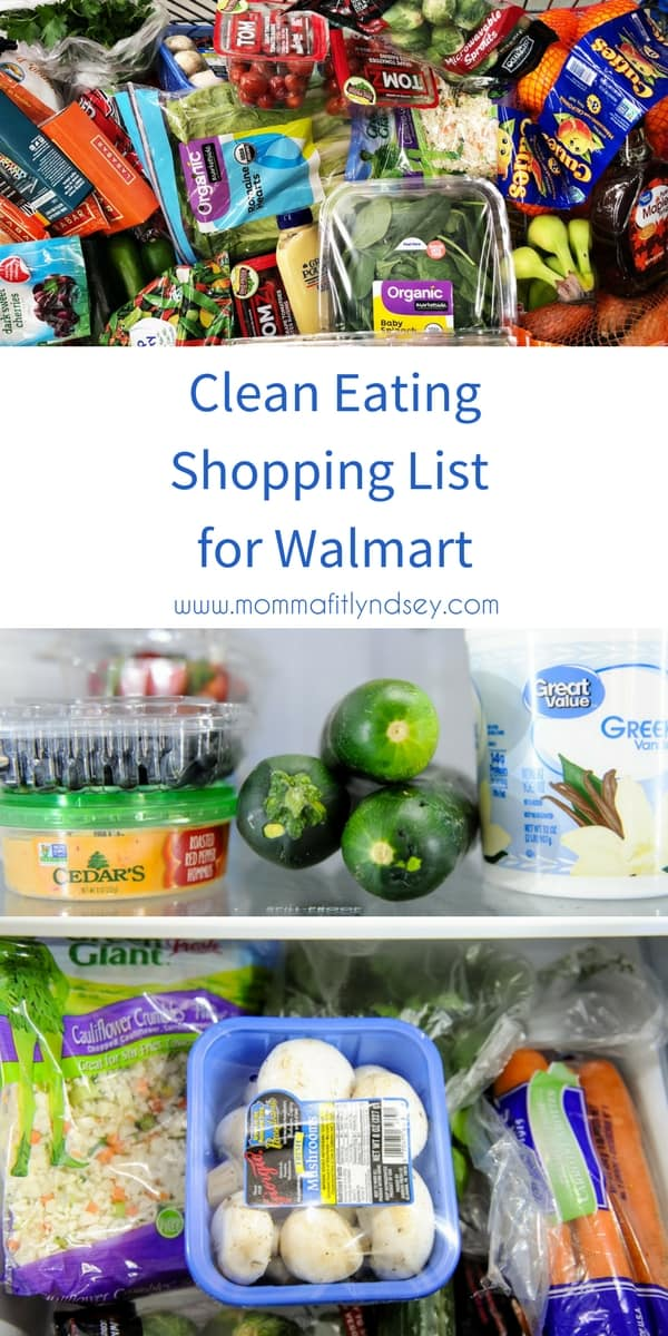 clean eating shopping list for walmart
