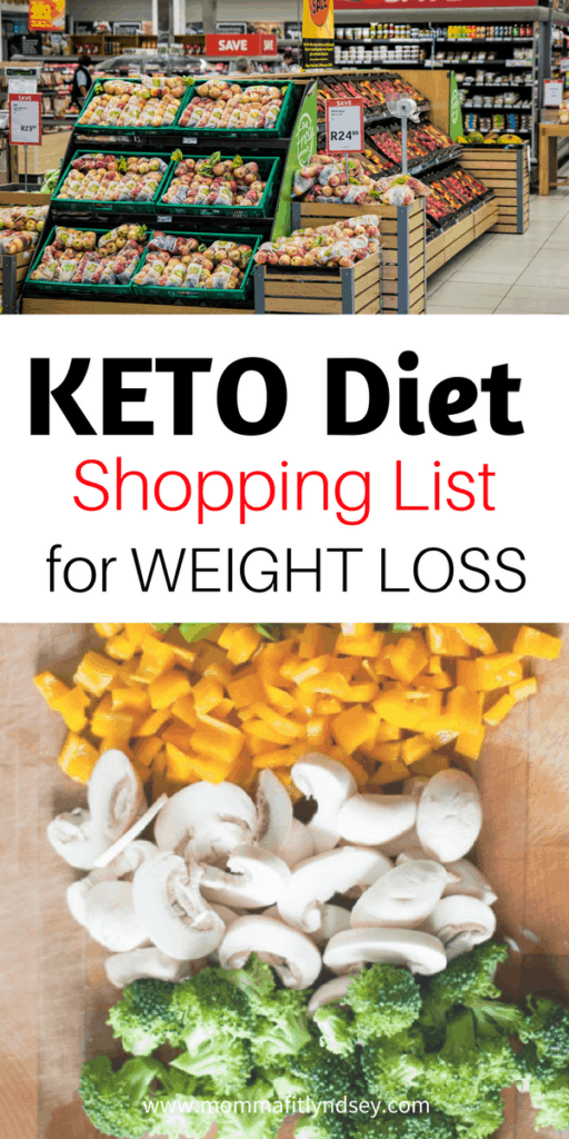 keto diet shopping list for weight loss