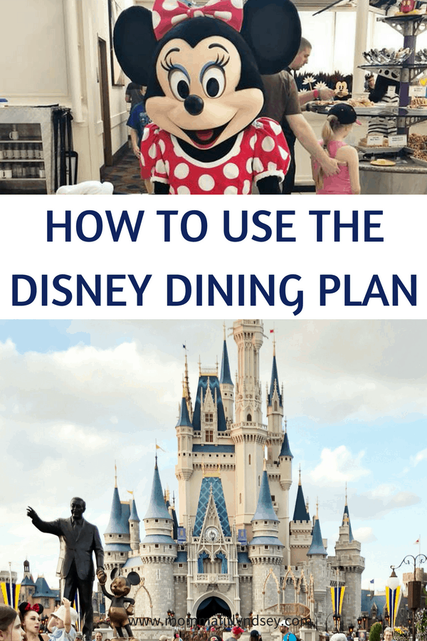 how to use the disney dining plan