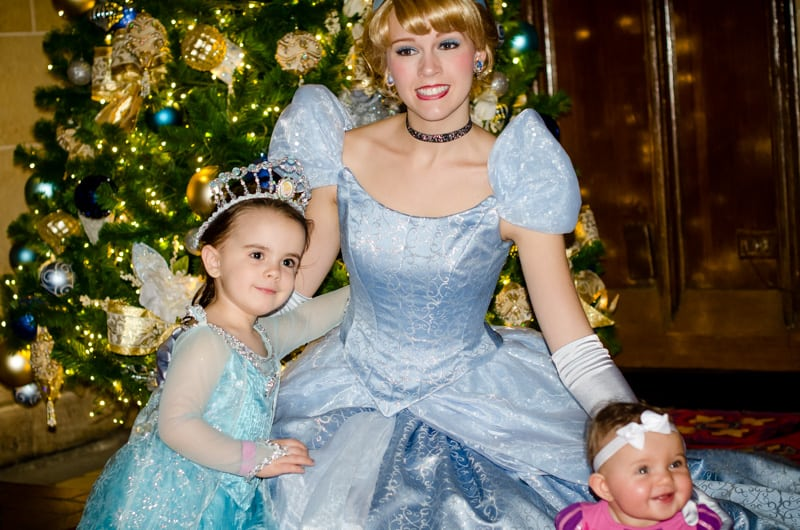 Cinderella at Disney World Christmas