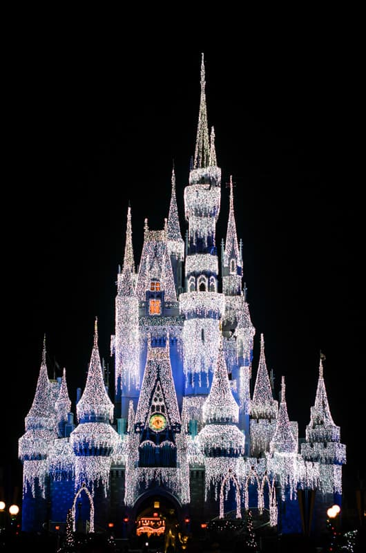 disney castle winter