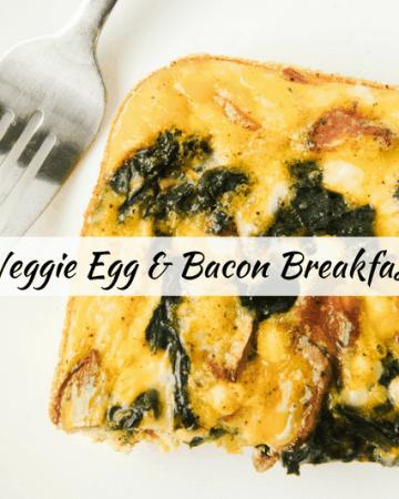 Low Carb Veggie Egg Bacon Casserole