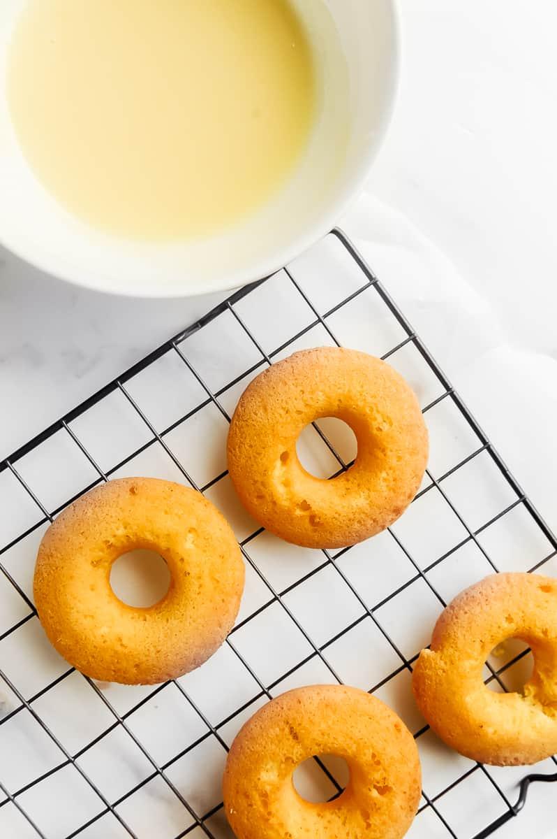 krispy kreme keto donut on a cooling rack