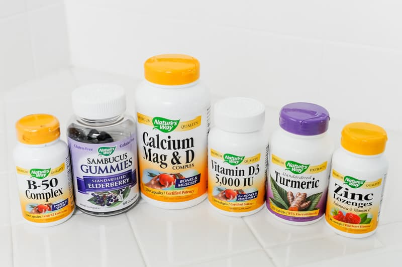 daily list of vitamins