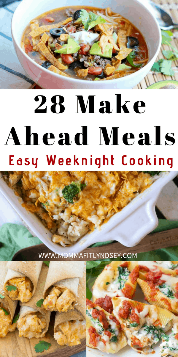 make ahead meals for fast weeknight dinner ideas