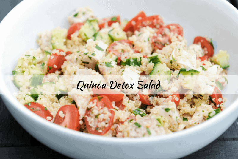 quinoa salad for easy healthy lunch on the go