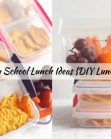 DIY lunchables are an easy healthy lunch ideas for picky eaters