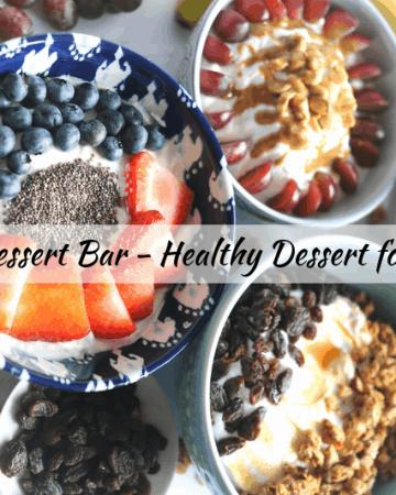 healthy dessert for a crowd yogurt & fruit topping bar