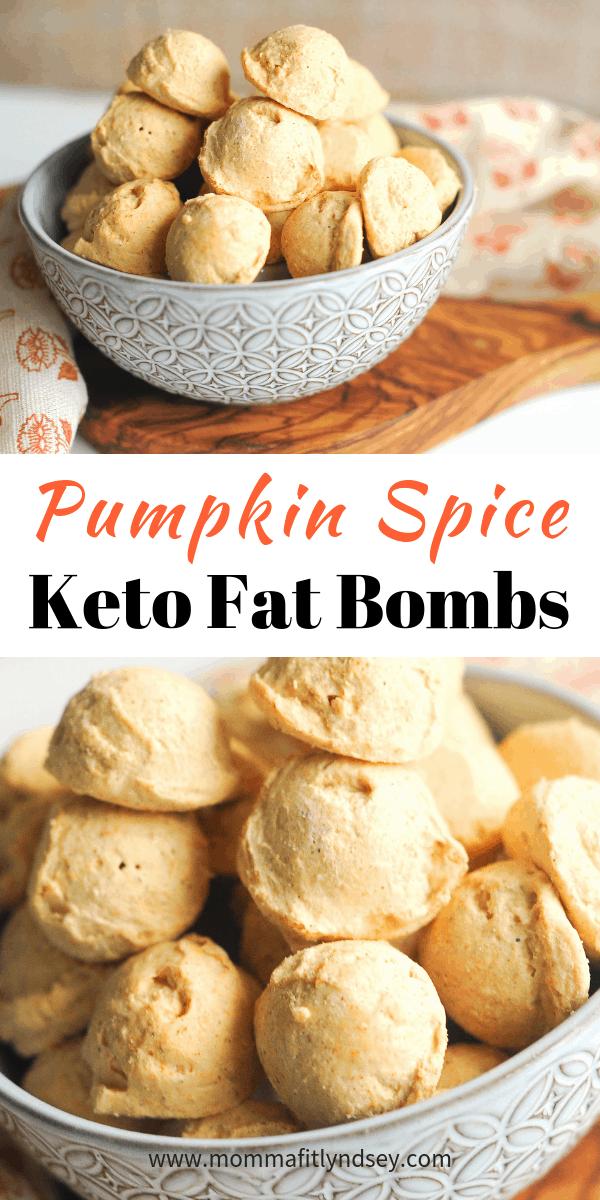 pumpkin spice cheesecake keto fat bomb recipe