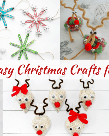50 easy diy christmas crafts to do with kids or preschoolers during christmas or winter