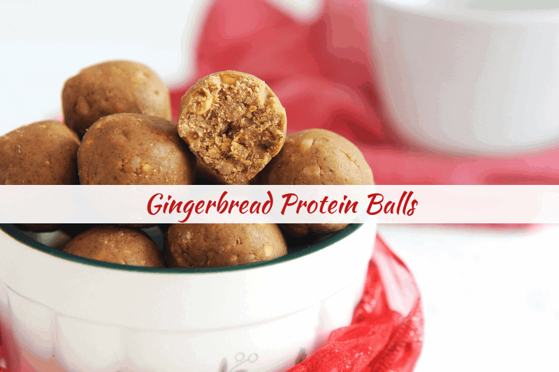gingerbread protein balls an easy holiday snack to curb sugar cravings