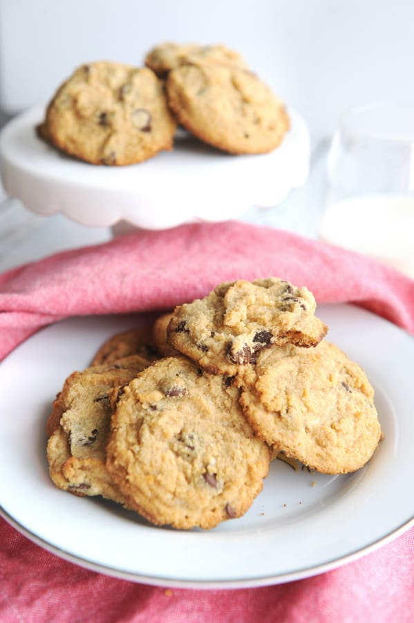 chocolate chip cookies with coconut flour for keto baking