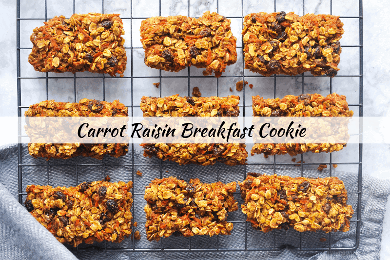 Looking for the perfect EASY healthy breakfast cookie that is lower in sugar? healthy Lifestyle Blogger Momma Fit lyndsey is sharing a simple breakfast cookie recipe that has no refined sugar