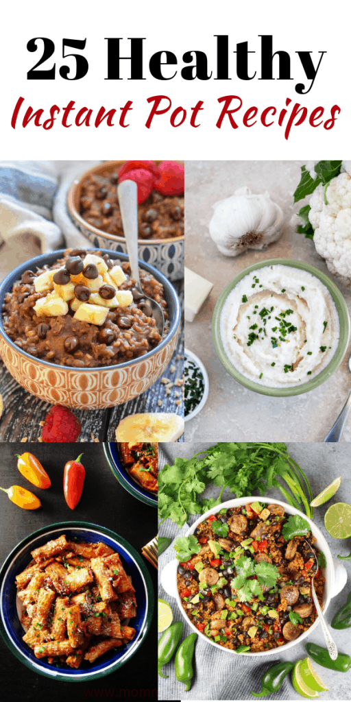Looking for the perfect EASY healthy instant pot recipe for dinner? healthy Lifestyle Blogger Momma Fit lyndsey is sharing a roundup of 25 healthy instant pot recipes here