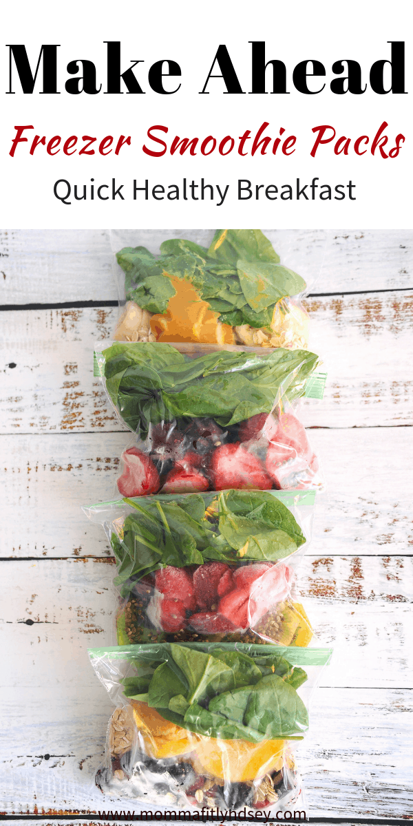 make ahead freezer smoothie packs for an easy healthy breakfast