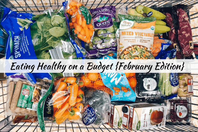 Looking to learn how to eat healthy on a budget and spend less? healthy Lifestyle Blogger Momma Fit lyndsey is sharing her February meal plan to help you keep your grocery budget in control