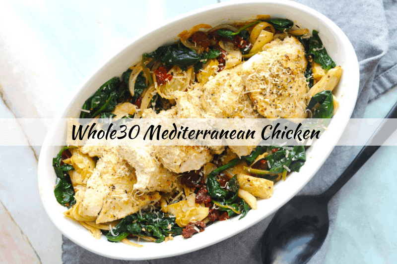 Looking for a whole30 dinner recipe? healthy Lifestyle Blogger Momma Fit lyndsey is sharing one of her favorite easy whole30 chicken dinner recipes