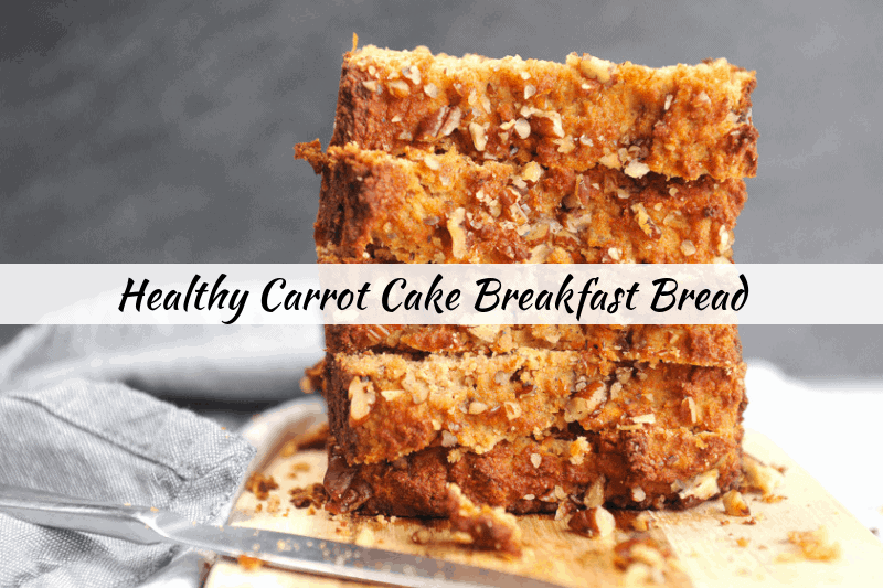 Looking for healthy easter recipes? healthy Lifestyle Blogger Momma Fit lyndsey is sharing her favorite carrot cake breakfast bread