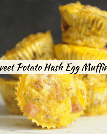 Looking for easy whole30 breakfast recipes for Easter brunch? healthy Lifestyle Blogger Momma Fit lyndsey is sharing her favorite sweet potato hash egg muffins recipe