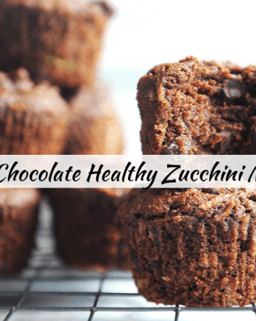 Looking for a healthy gluten free and dairy free chocolate muffin? Healthy lifestyle blogger Momma Fit Lyndsey shares her super fudgey healthy chocolate zucchini muffins recipe