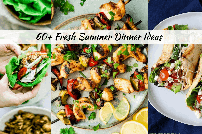Looking for fresh summer dinners? Healthy lifestyle blogger Momma Fit Lyndsey shares her 60+ fresh summer dinner ideas