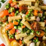 featured image for this gluten free italian pasta salad