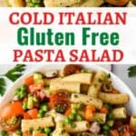 pin for this gluten free pasta salad recipe