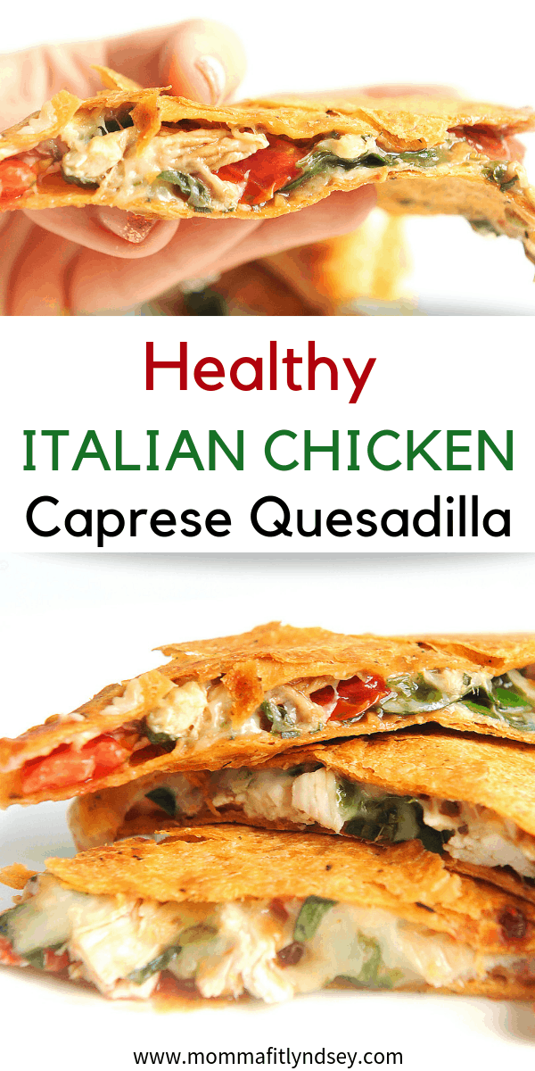 Looking for a healthy chicken quesadilla recipe? Healthy lifestyle blogger Momma Fit Lyndsey shares her favorite healthy chicken recipe