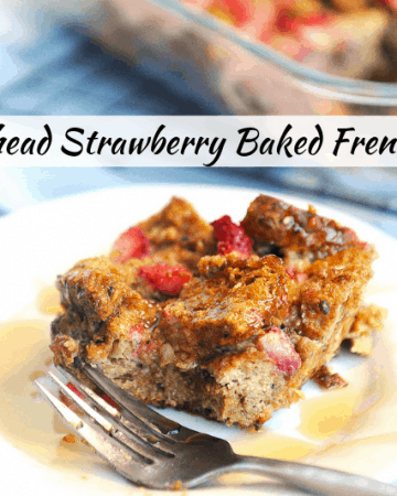 Looking for a healthy make ahead breakfast casserole? Healthy lifestyle blogger Momma Fit Lyndsey shares her favorite make ahead breakfast - an easy french toast casserole that is healthy!