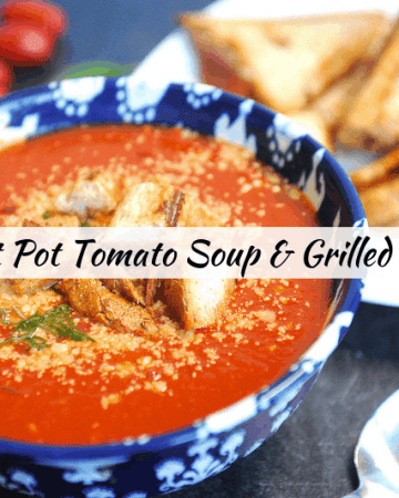 if you're looking for kid-friendly weeknight recipes that are healthy this tomato soup and grilled cheese bites will be great for a healthy family dinner. this recipe can be made for a freezer meal in the instant pot or crockpot