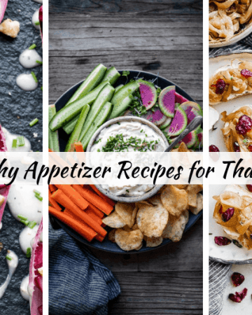 Need appetizer recipes for Thanksgiving? Here are over 40 healthy appetizer ideas for Thanksgiving, Christmas and the holidays! Easy to make and many can be made ahead. Delicious finger foods many are kid friendly. Dips, crockpot and instant pot keto and low carb appetizer recipes
