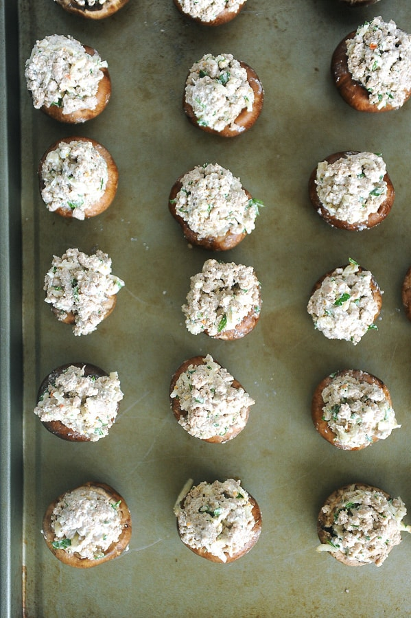 Mushroom Swiss Burger Stuffed Mushrooms are an easy appetizer idea for a holiday party or any time of the year.Healthy appetizer that is a keto appetizer and great for Thanksgiving or Christmas. Perfect to make ahead and reheat for party