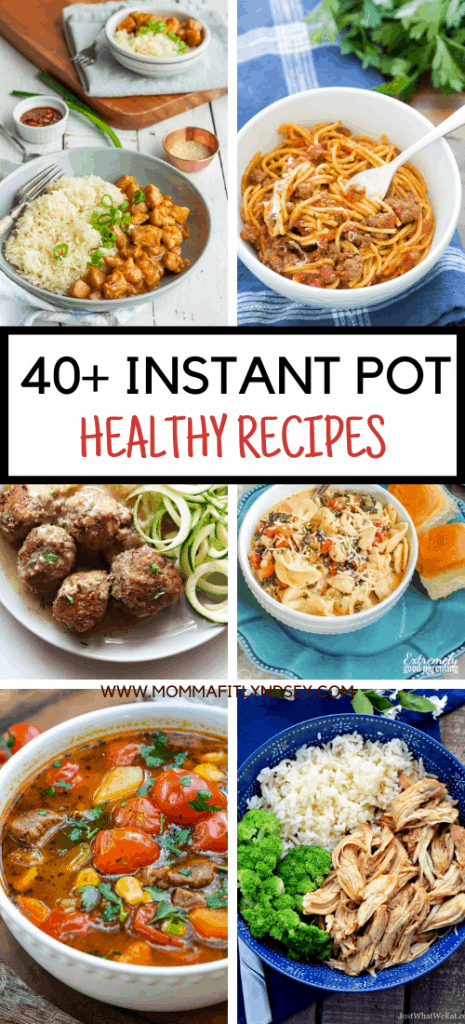 These healthy instant pot recipes that will make healthy weeknight meals a breeze! Family friendly dinners like instant pot ground beef, chicken + more!