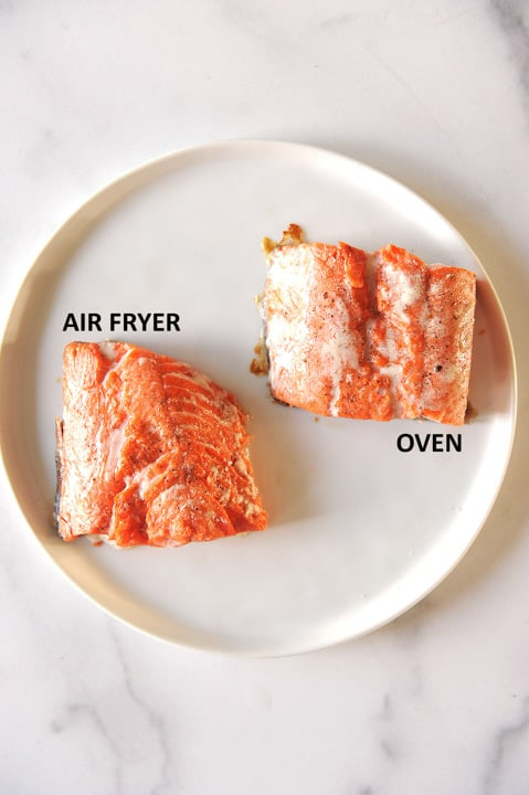 how to make salmon in the air fryer or baked in the stove
