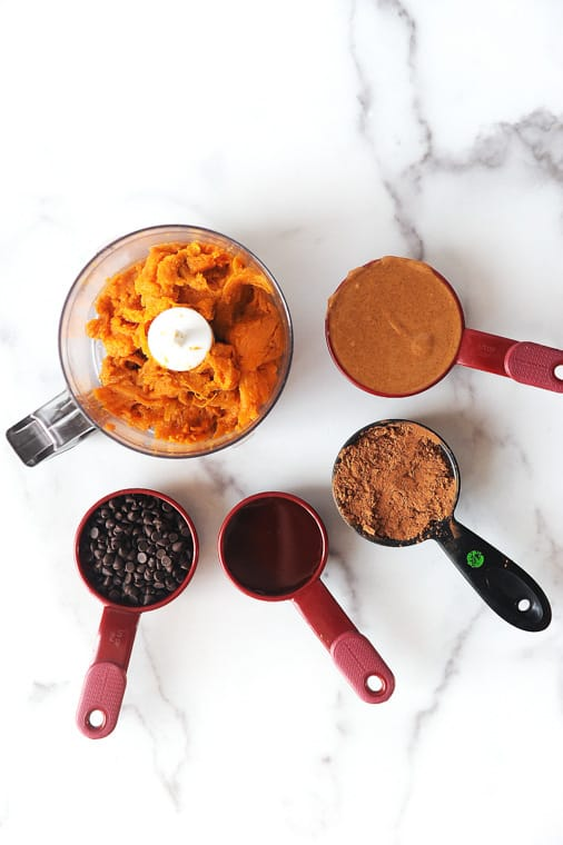 how to make vegan paleo flourless sweet potato brownies