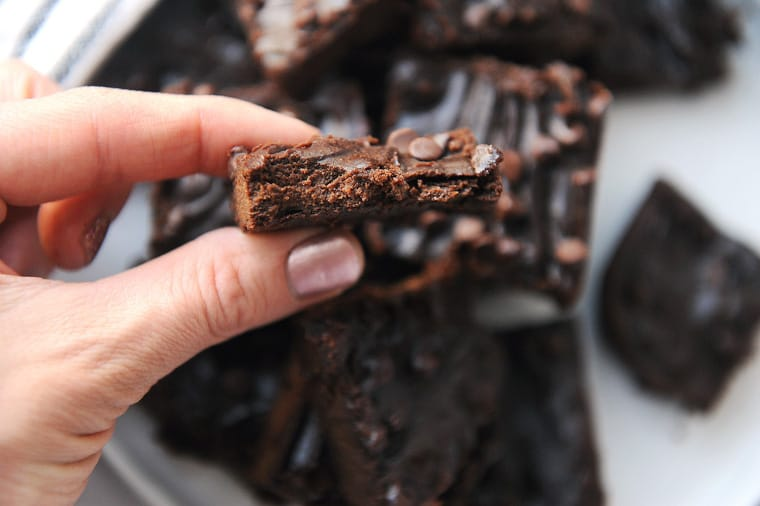 chewy and fudgy sweet potato brownies