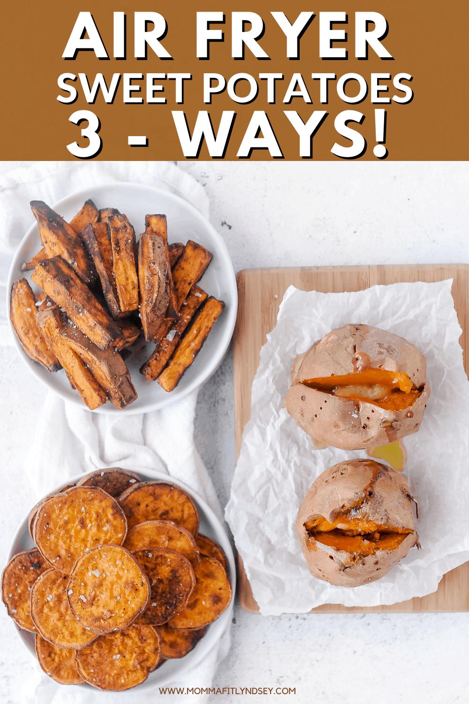 three types of sweet potatoes