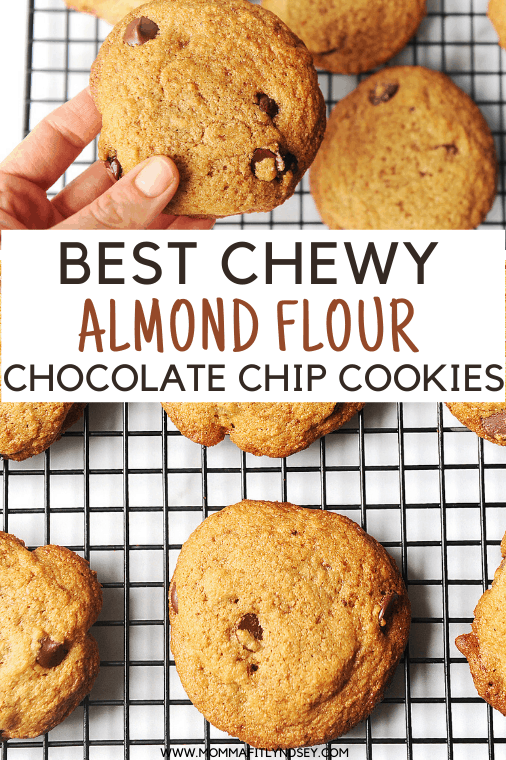 the best almond flour chocolate chip cookies recipe around! These chewy chocolate chip cookies are easy to make, are gluten free and perfect for homemade chocolate chip cookies.