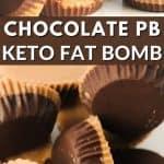 chocolate peanut butter keto fat bomb