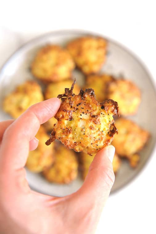 Air Fryer Hash Browns are crispy, delicious and easy to make! A yummy Whole30 hash brown or paleo hash browns made in the air fryer are the perfect savory breakfast!