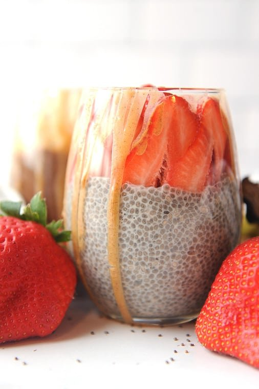 Coconut milk chia pudding is the best vegan milk to use for chia seed pudding. Creamy and delicious, this make ahead breakfast is Whole30, Keto and Paleo!