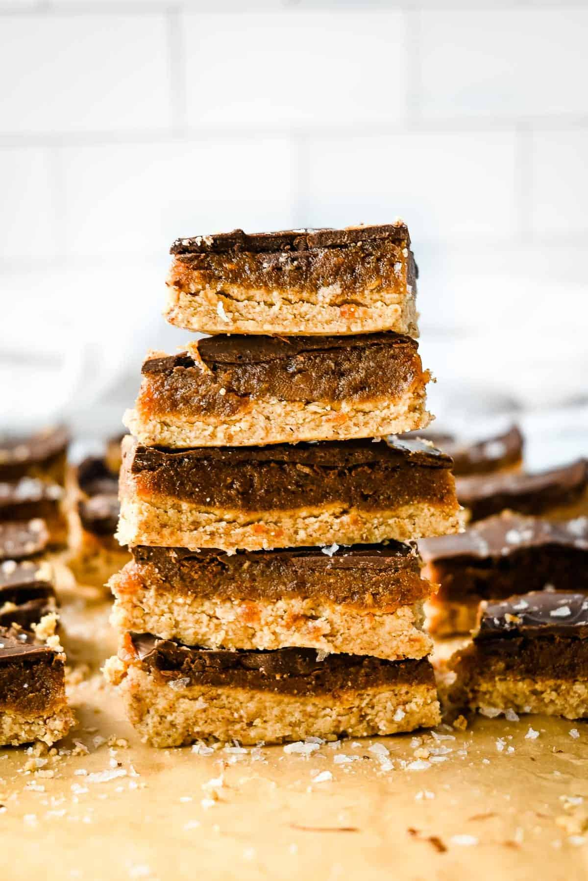 stack of chocolate date bars